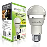 SAFELUMIN SA19-450U30 LED Light Bulbs 40W Equiv. Daily use Lamp Bulb with Battery Backup Lights for a Power Outage Emergency Light, US Patented UL-Listed AC120V E26, 500lm (3000K Soft White) (Color: 3000K (Soft White), Tamaño: 1 Pack)