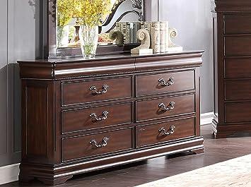 Homelegance Mont Belvieu Dresser, Hidden Drawers In Cherry