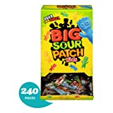 240 Count Bulk SOUR PATCH KIDS Sweet and Sour Candy, Individually Wrapped Packs (Color: Original Version, Tamaño: 240 Count (Pack of 1))
