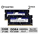 Timetec Hynix IC 32GB KIT (2x16GB) DDR4 2400MHz PC4-19200 Non ECC Unbuffered 1.2V CL17 2Rx8 Dual Rank 260 Pin SODIMM Laptop Notebook Computer Memory Ram Module Upgrade (32GB KIT (2x16GB)) (Tamaño: 32GB KIT(2x16GB))
