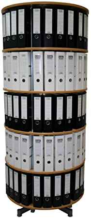 Reef ordnerdrehsäule diámetro: 810mm, 5estantes, madera de haya