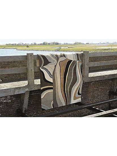 brink campman tapis de de salon moderne estella curve curve pas cher beige 160x230 cm. Black Bedroom Furniture Sets. Home Design Ideas