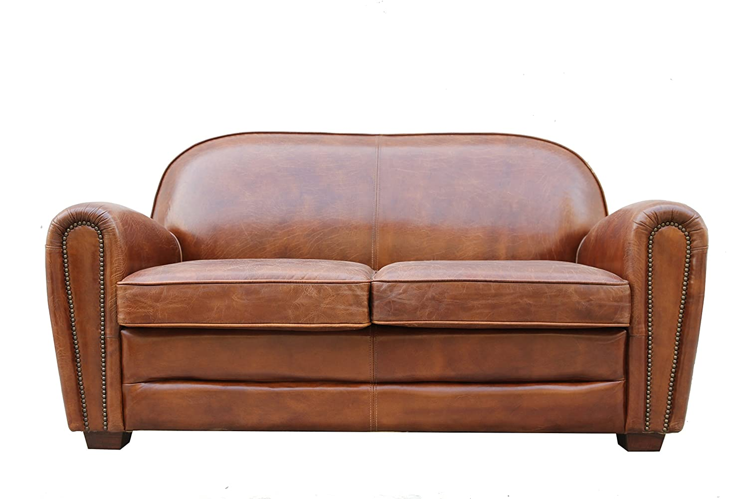 Pasargad Carpets Paris Club Genuine Leather Loveseat - 2' 9 x 5' 3