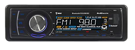 TOKAI - LAR354B - AutoRadio Bluetooth & App Remote - RDS - MP3  - USB  - SD -  Façade Glissante - 4x45 W Noir
