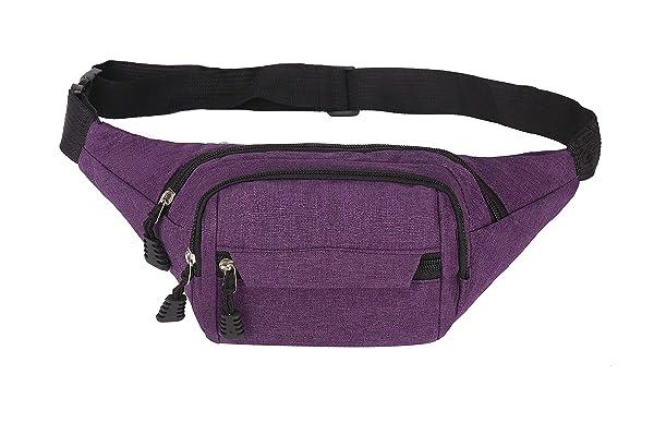 Fanny Pack for Men Women Zipper Pockets Adjustable Belt Bags Waist Pack for Running Traveling Outdoors Workout Casual