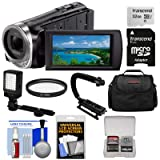 Sony Handycam HDR-CX455 8GB Wi-Fi HD Video Camera Camcorder with 32GB Card + LED Light & Stabilizer + Case + Kit