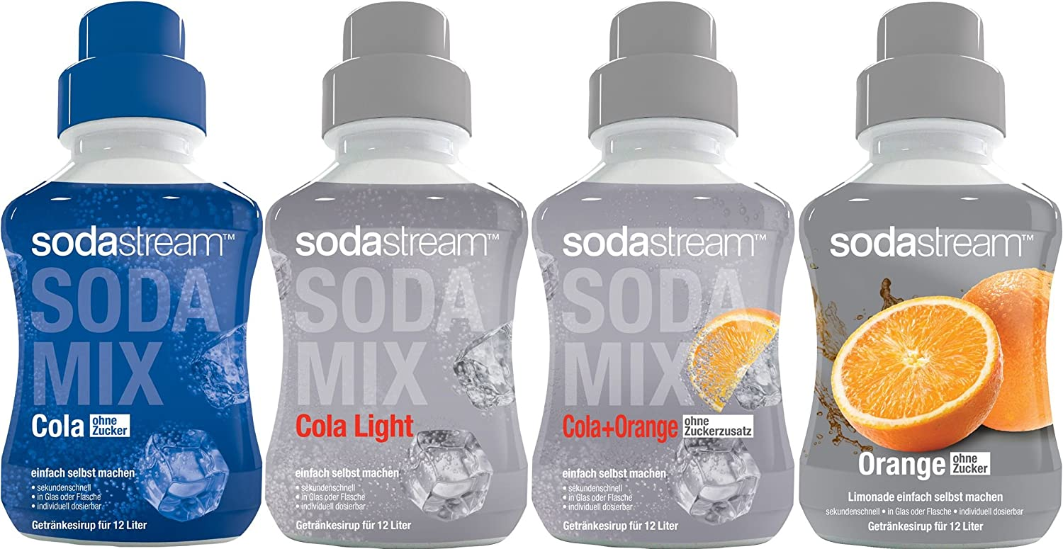 SodaStream 4er Sirup-Packung, Cola ohne