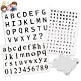 178 Pcs Transparent Clear Silicone Stamps Alphabet, Numbers Symbol Stamp Set with Square Shape Acrylic Block Pad for DIY Craft