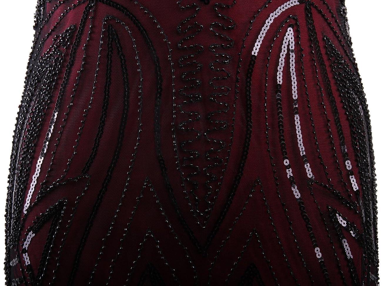 Vijiv Long Prom 1920's Vintage Gatsby Bead Sequin Art Nouveau Deco Flapper Dress 4
