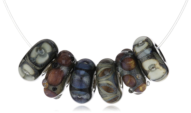 Trollbeads Damen-Bead Kiesstrand Set Glas 925 Sterling Silber 63047 schenken