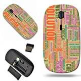 Luxlady Wireless Mouse Travel 2.4G Wireless Mice with USB Receiver, 1000 DPI for notebook, pc, laptop, mac design IMAGE ID 21276888 Pollution and Littering Global Problem as art (Color: 709)
