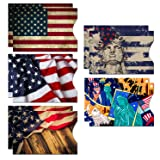 RFID Blocking Sleeves (10 RFID Blocking Sleeves, 5 Unique Designs) Identity Theft Protection Travel Case Set (American Element) (Side Load) (Color: Side Load)