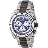 Reloj Invicta 15127 Specialty para hombre, de acero inoxidable, conógrafo. En tonos plateados y bronce. Dial color azul.