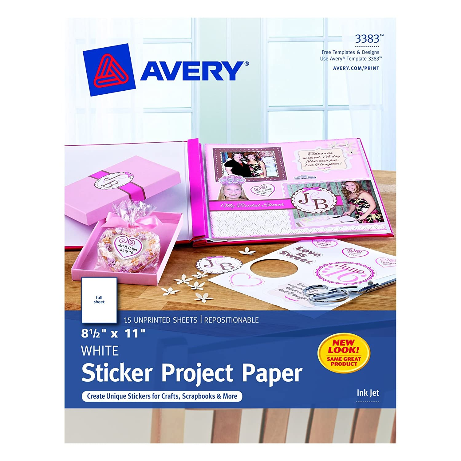 Avery Sticker Project Paper