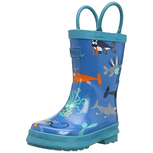 Hatley Big Boys Rainboots -Sea Creatures