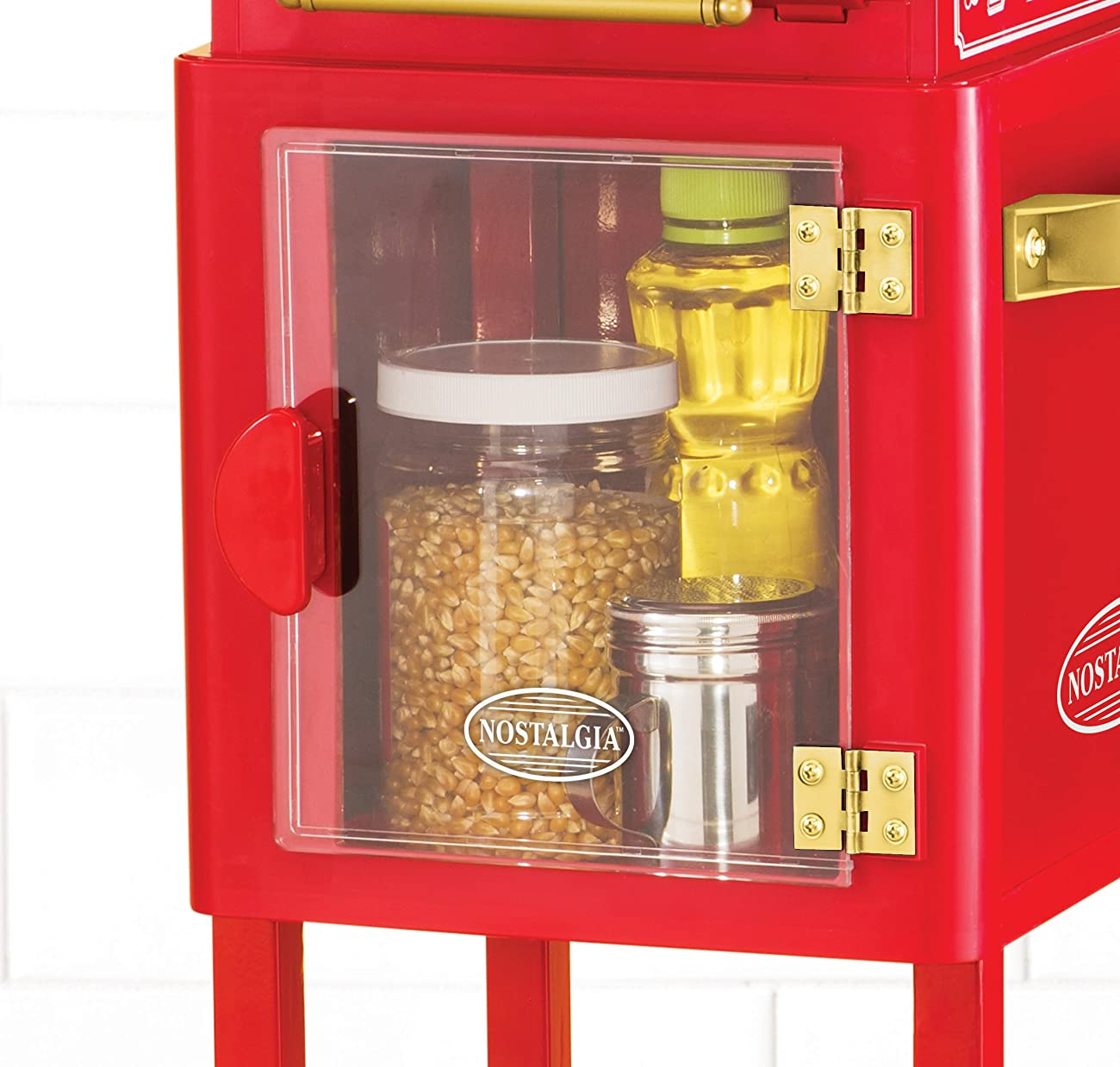 Nostalgia KPM200CART 45-Inch Tall Vintage Collection 2.5-Ounce 10-Cup Kettle Popcorn Cart 1