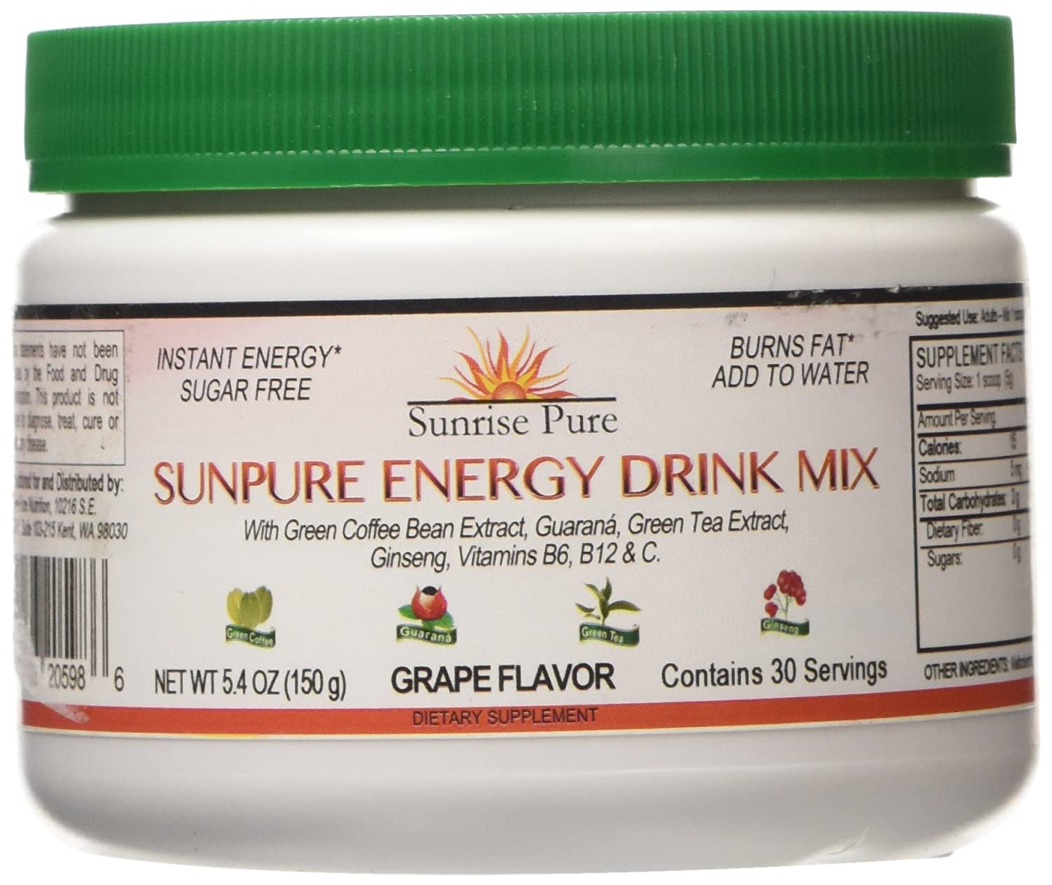 Green Can Energy Drink Energy Drink Mix Natural Fat