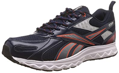 Reebok Men's Acciomax 6.0 Dark Blue, Silver, Orange, White and Black Running Shoes
