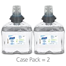 Purell 5399-02 Instant Hand Sanitizer Skin Nourishing Foam, 1000 mL TFX Refill (Case of 2)