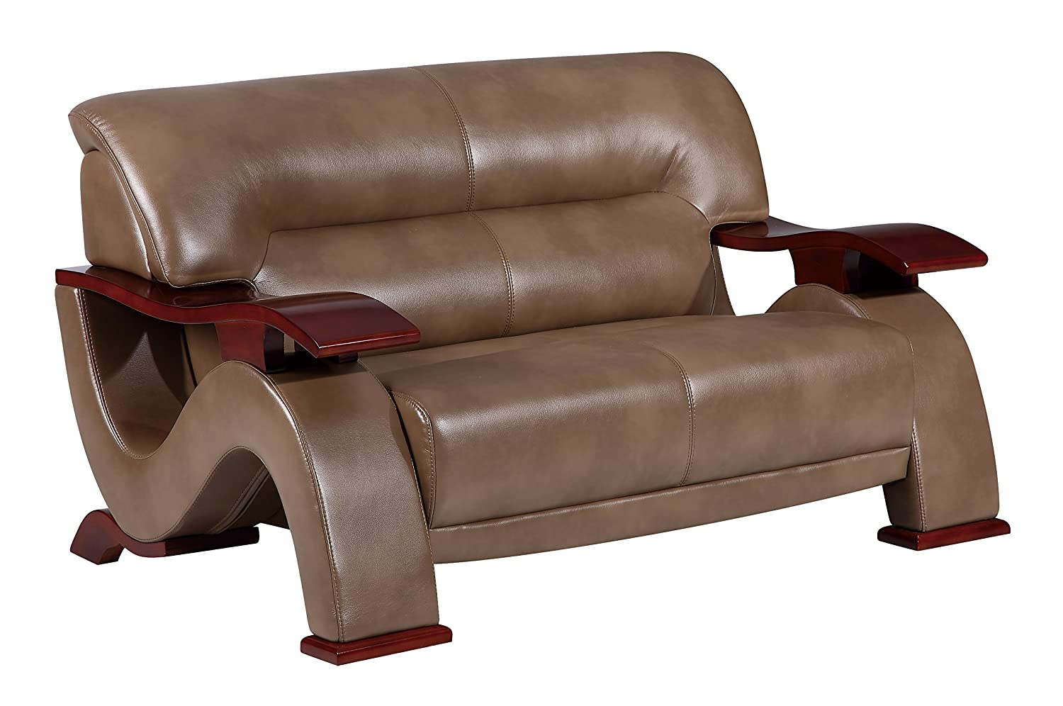 Global Furniture U2033 - DTP672P - L Pluto Loveseat - Walnut