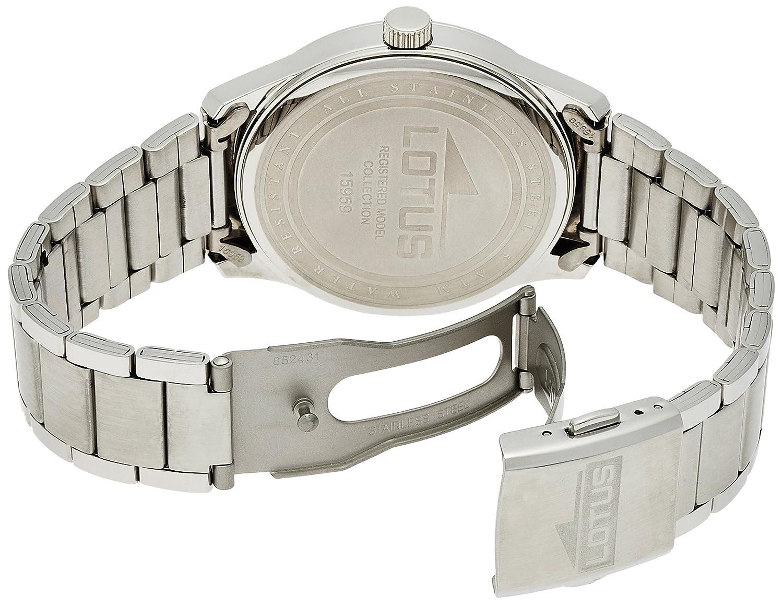 new lotus montre homme 15959 3 ss x quartz 50m black dial men 39 s watch as ebay. Black Bedroom Furniture Sets. Home Design Ideas
