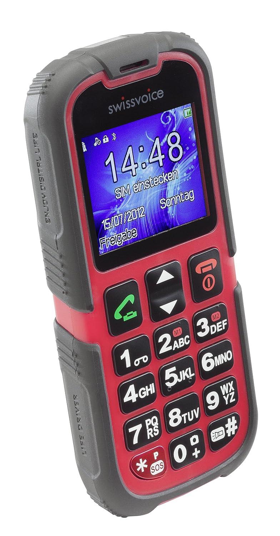 T�l�phone GSM SWISSVOICE SV39 NOIR ROUGE