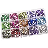 Summer-Ray 4mm Assorted Color Rhinestones In Storage Box (Color Collection #2) (Color: Color Collection #2, Tamaño: 4mm)