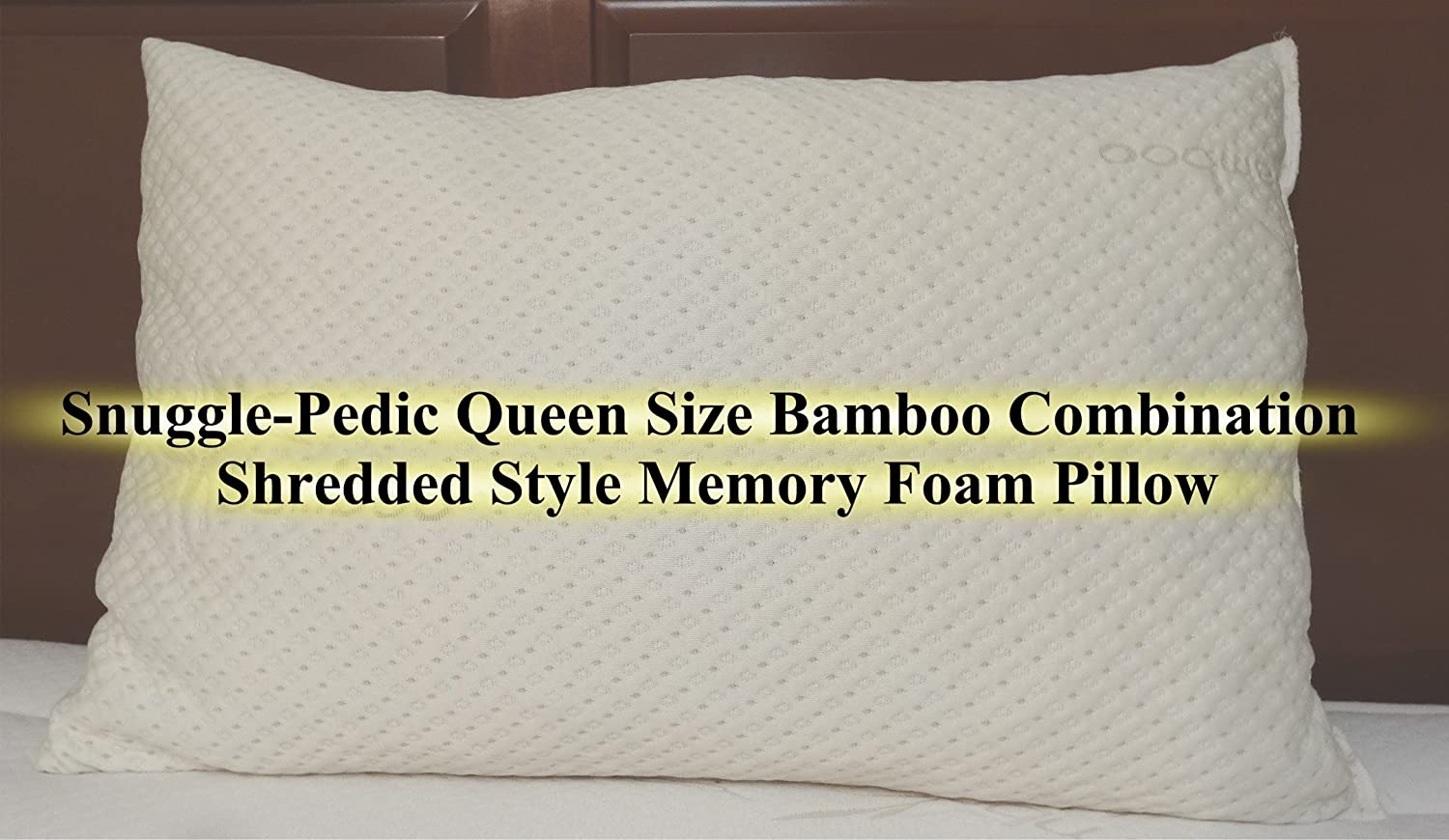 Bamboo Combination Shredded Style Memory Foam Pillow With Kool-Flow Micro-Vented Cover