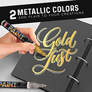 PaintMark Quick-Dry Paint Pens - Write On Anything! Rock, Wood, Glass, Ceramic & More! Low-Odor, Oil-Based, Medium-Tip Paint Markers (15 Pack) (Tamaño: 15 Pack)
