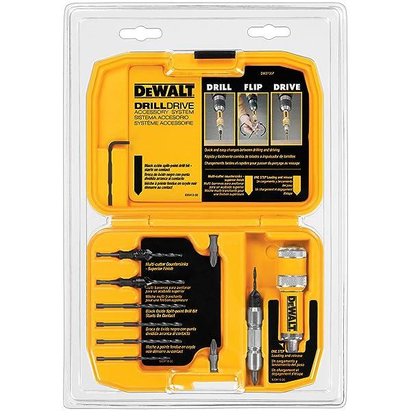 DEWALT DW2735P Drill Flip Drive Kit, 12-Piece (Color: Black)