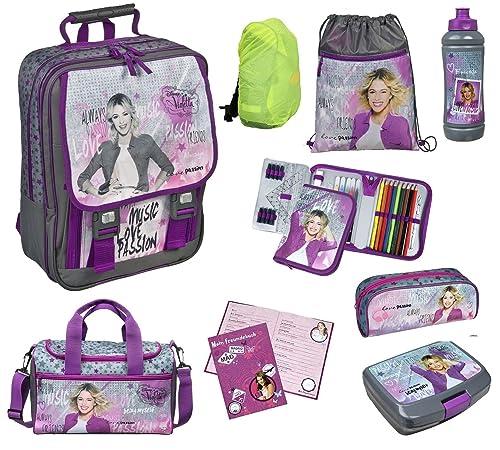 Schulrucksack im Set Disney Violetta