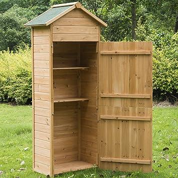 Holz Gerätehaus Geräteschrank Gartenschrank Gartenhaus ...