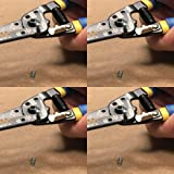 Klein Tools 11055 Wire Cutter and Wire Stripper, Stranded Wire Cutter, Solid Wire Cutter, Cuts Copper Wire 4 Pack (Tamaño: Wire Stripper 10-18 and 12-20 AWG)