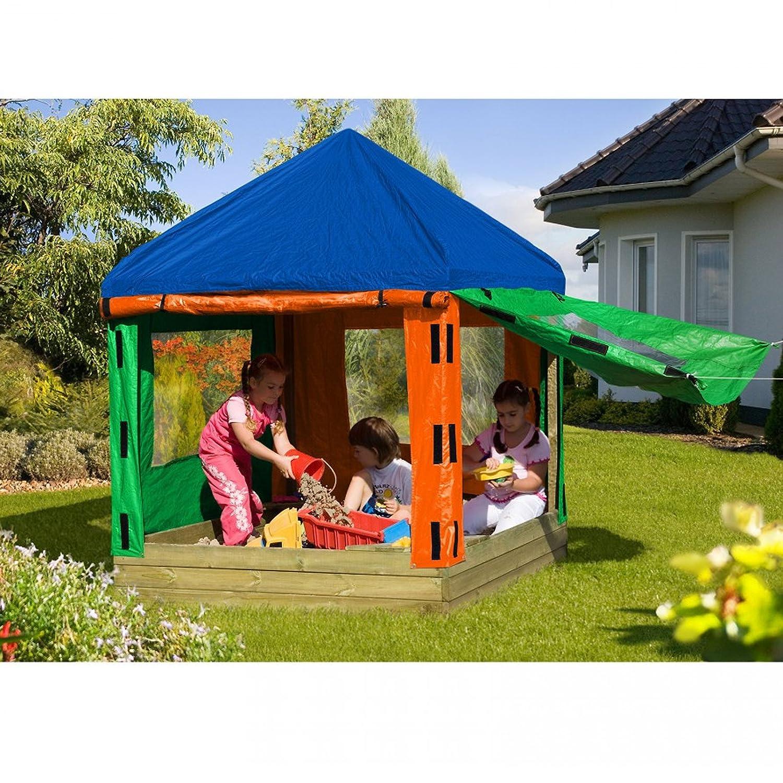 Sandkasten TONI aus Holz mit Pavillon von Gartenpirat® günstig bestellen
