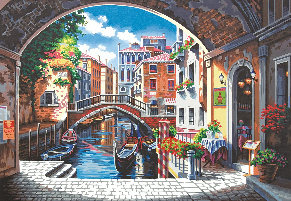 Dimensions Paint By Number Kit, Archway To Venice, 14-Inch-by-20-Inch