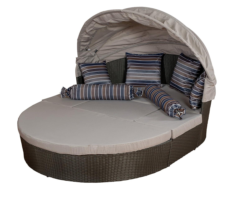Gartenlounge Sonneninsel groß, Farbe anthrazit-grau bicolor mit Kissen, LILIMO ®