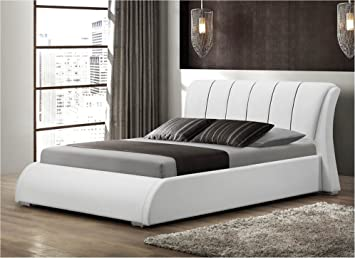 Casual Comfort Katrina Queen Platform Bed, White
