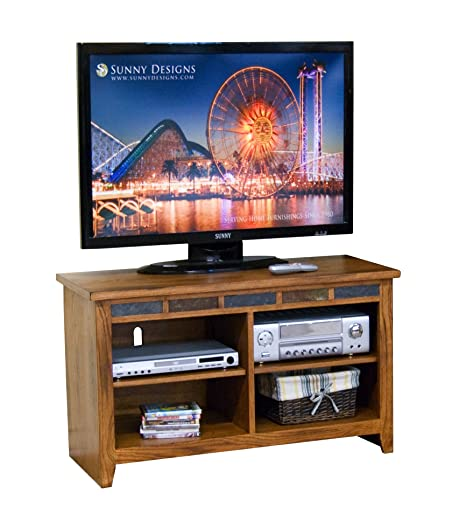 Sunny Designs Sedona 42 Inch TV Console in Rustic Oak