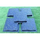 5PCS PLASTIC MOLDS CASTING CONCRETE PAVING GARDEN PATH PAVEMENT STONE PATIO#S26