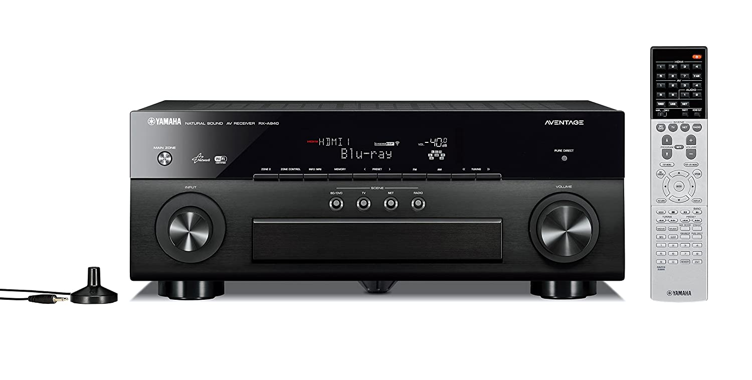 Yamaha RX-A840BL 7.2-Channel Wi-Fi Network AVENTAGE Home Theater Receiver