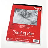 """Darice 9""""x12"""" Artist's Tracing Paper, 100 Sheets – Translucent Tracing Paper for Pencil, Marker and Ink, Lightweight, Medium Surface (97490-3) (Color: White, Tamaño: 1 Pack)"""