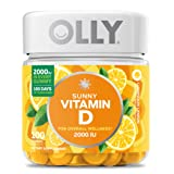 OLLY Hello Sunshine Gummy Supplement, with 2000 IU of Vitamin D3; Luminous Lemon; 100 count (Color: Yellow, Tamaño: 1 Pack)