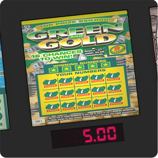 GREEN & GOLD - Lotto Video Scratch Card (Lottery Tickets Scratch Off Real compare prices)