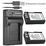 Kastar Battery (X2) & Slim USB Charger for Nikon EN-EL9, ENEL9, EN-EL9a, ENEL9A, MH-23 and Nikon D3000, D5000, D40, D60, D40X SLR Cameras (Tamaño: 1 Slim charger + 2 batteries)
