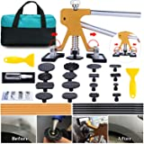 ARISD Auto Paintless  Dent Repair Kits - Adjustable Gold Dent Lifter Dent Repair Tool  Kit,Pops a Dent puller Kit for Car Hail Damage Repair and Car Dent Removal (Color: Gold)