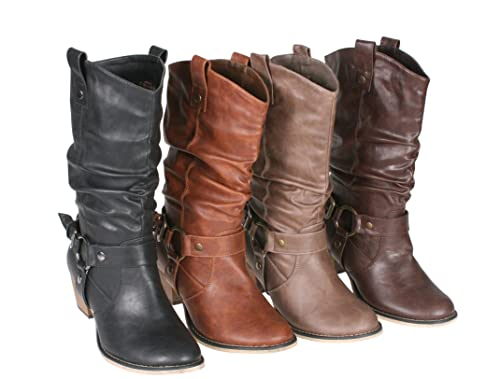 Ladies Comfortable Refresh Women Wild-02 Western Style Cowboy Boots Sale Colors