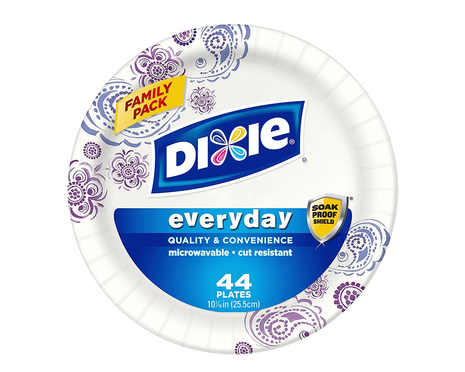 Dixie Heavy Duty Plate, 44 Count