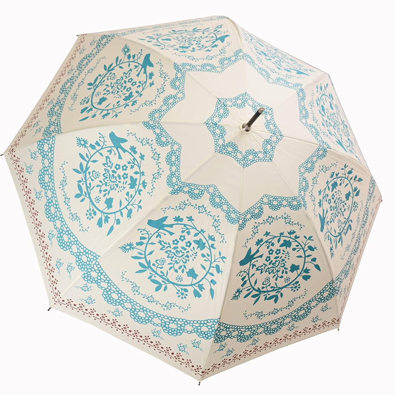 Kung Fu Smith Vintage Flower Totem Print Bubble Dome Rain Umbrella 2