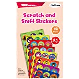 HORIECHALY Stinky Stickers, 32 Sheets with 8 Scent Scratch and sniff Stickers, Assorted Classroom Stickers for Kids & Teachers Mega Variety Pack!