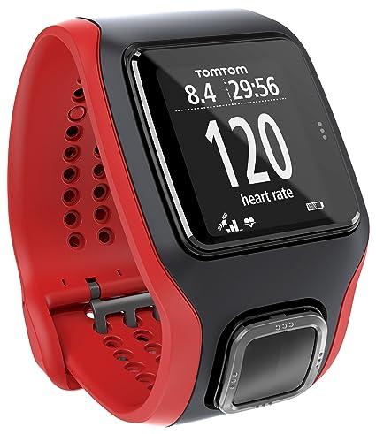 TomTom Montre GPS Runner Cardio Noir/Rouge (1RA0.001.00)